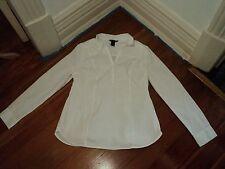 H&M mama white tunic long blouse shirt stretch cotton