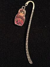 1 pink russian doll babuska bookmark