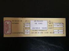 THE KINKS TICKET - UNUSED - 4-9-1988 - AUDITORIUM THEATRE CHICAGO! (seat 3)