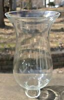 """Vintage Clear Hurricane Candle Lamp Shade 8-3/8"""" A"""