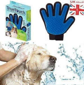 True Touch Pet Dog Cat Grooming Glove Deshedding Brush Remover Mitt Right Hand