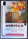 Pubblicità 1934 RADIO AUDIOLA SUPERETERODINA 5 VALVOLE sigarette Macedonia Extra