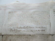"1842 ""Assignment And Declaration Of Trust"", Two Parchment Pages, From England"