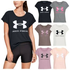 Under Armour Ladies Sportstyle Fashion T-Shirt UA Gym Crossfit Training Running