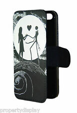 Nightmare Before Christmas Jack and Sally Flip Wallet Mobile Phone Case Cover