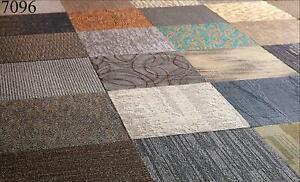Assorted Tan Beige Family Shaw Carpet Squares 48 SqFt 12 Tiles New