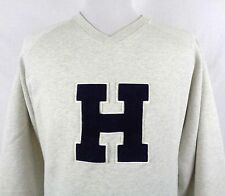 Vtg Tommy Hilfiger XL V-Neck Sweater Sweatshirt Big Sewn on H Patch Made in USA