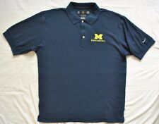 Nike Golf Dri Fit Polo Shirt Size Medium U of M Womens Basketball Embroidery