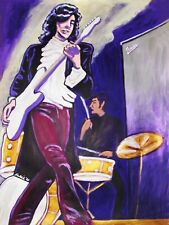 THE YARDBIRDS PRINT poster jimmy page telecaster blues rock having a rave up amp