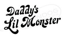 Daddys Little Monster Blk Sticker Vinyl Decal Suicide Squad Harley Quinn Joker