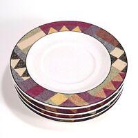 "Set of 4 Studio Nova Palm Desert Y2216 Saucer Plates 6-5/8"" Nancy Green Design"