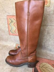 Frye Womens Brown Leather Campus Riding Boots Boho Knee High Size 6 B