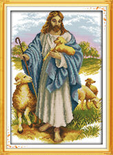 BNIP Joy Sunday Jesus the Good Shepherd Cross Stitch Kit 14ct 30 x 21cm (A)