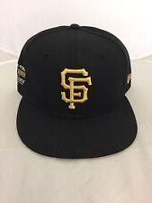 SAN FRANCISCO GIANTS SNAPBACK HAT NEW ERA SF 9FIFTY CAP STAR TRIM BLACK/GOLD 950