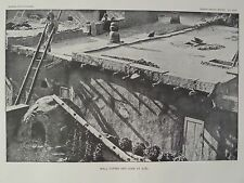 Zuni Indian Pueblo Wall Coping And Oven Peppers New Mexico 1891 Original Print
