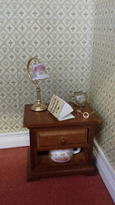 Reutter Dolls House Miniatures 1:12th Scale Decorated Bedside Table 18275
