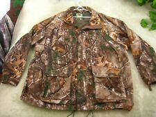 Cabela's Men's Dry Plus Mossy Oak Camo Hunting Full ZIP Jacket Coat Size 2XL REG