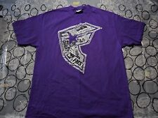 Large- Purple Famous Stars And Straps Brand T- Shirt