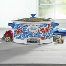 The Pioneer Woman Frontier Rose 7-Quart Programmable Slow Cooker NEW