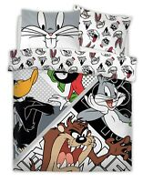 WARNER BROTHERS LOONEY TUNES LOONEY CREW Polycotton Duvet Cover Set