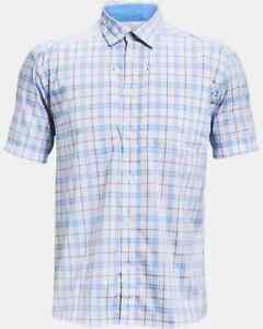 UNDER ARMOUR Men's UA Tide Chaser 2.0 Plaid S/S Fishing Shirt NWT Size: LARGE