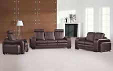 Sofagarnitur Couch 3+2+1 Set Polster Leder Sofa Wohnzimmer Sitz Garnituren 3339
