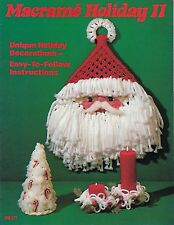 Macrame Christmas Patterns Tree Santa Ornaments Macrame Holiday Ii Book Mm321