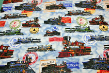 TRAINS BY DAN MORRIS FOR TIMELESS TREASURES - 100% COTTON FABRIC