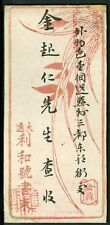 IMPERIAL CHINA EARLY MIN CHU PRIVATE POST COVER