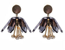 MARNI H&M Black Flower  Earring Set