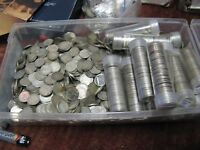 50 Random Old Canadian Silver Dimes Ten Cent Coins From The Lot.