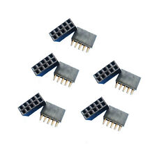 6pcs New Double Row 254 Mm 2x5 Pin Female Pin Header