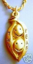LOOK Love Two peas in a Pod Charm 24kt Gold Plated Pendant