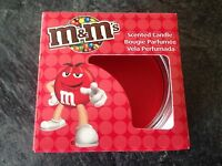 Red Hot Apple & Cinnamon Scented M&M's Candle & Glass Holder - New & Boxed