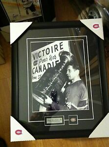 Jean Beliveau stanley Cup Montreal Canadiens 11x14 photo Hockey Frame Cadre