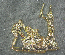 """Softball plaque relief action lot of 10 trophy parts 5 1/2"""" wide x 6"""" tall"""
