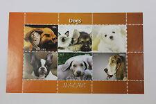 FOGLIETTO ANIMALI MALAWI ANNO 2011 CANI DOGS