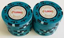 (25) $5,000 CASINO ROYALE POKER CHIPS