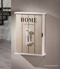 Schlüsselkasten Holz Mattweiss 6 Haken 2 Nostalgische Schlüssel Landhaus Chic