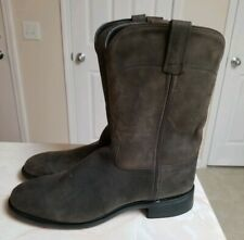 NEW ~ Old West Men's Distressed Leather Roper Cowboy Boots ~ SRM4051 Size 10 D