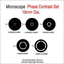 V00. Microscope Phase Contrast Rings 18mm Diameter