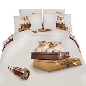 Dorm Room Bedding Twin XL Adorable 4 Piece Duvet Set 100% Egyptian Cotton DM484T