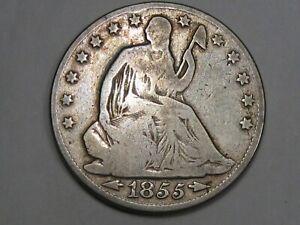 1855-o US Seated Liberty Half Dollar.  #6