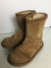 UGG Tan Sheepskin Short Boots. Size 5.5UK. VG Condition