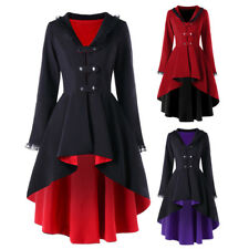 VICTORIAN STYLE WOMEN ELEGANT SLIM FIT TRENCH COAT JACKET RETRO Gothic JACKET