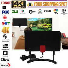 ATSC/DVB-T2 TV Digital HD 1080P / 4K HDTV Antenna Amplifier w/ Bracket 200 Mile