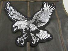 """Patch écusson"""" Grand Aigle gris et noir"""" biker,harley, moto,rockabilly, country"""