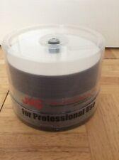 50 x JVC Taiyo Yuden DVD-R 16 x 4.7GB Watershield Gloss White Inkjet Printable