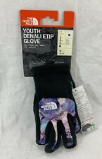 THE NORTH FACE Denali Thermal ETip Girls Gloves YOUTH MEDIUM Magic Magenta *NEW*