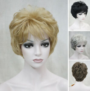 Elegant Short Curly Women Ladies Everyday Natural Daily Life hair Wig #EF53
